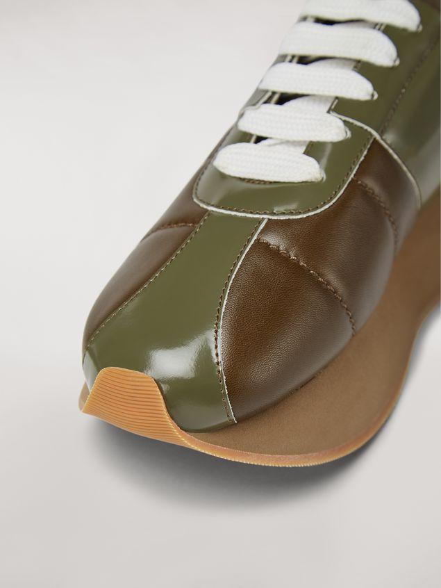 Marni Marni BIG FOOT sneaker in calfskin green Woman - 5