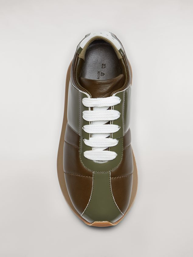 Marni Marni BIG FOOT sneaker in green calfskin  Woman - 4