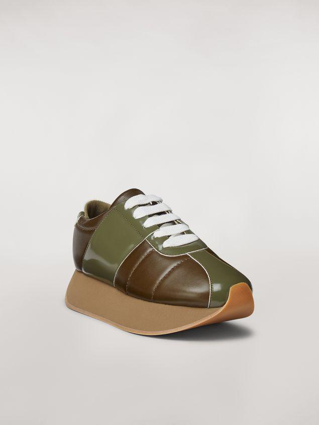 Marni Marni BIG FOOT sneaker in green calfskin  Woman - 2