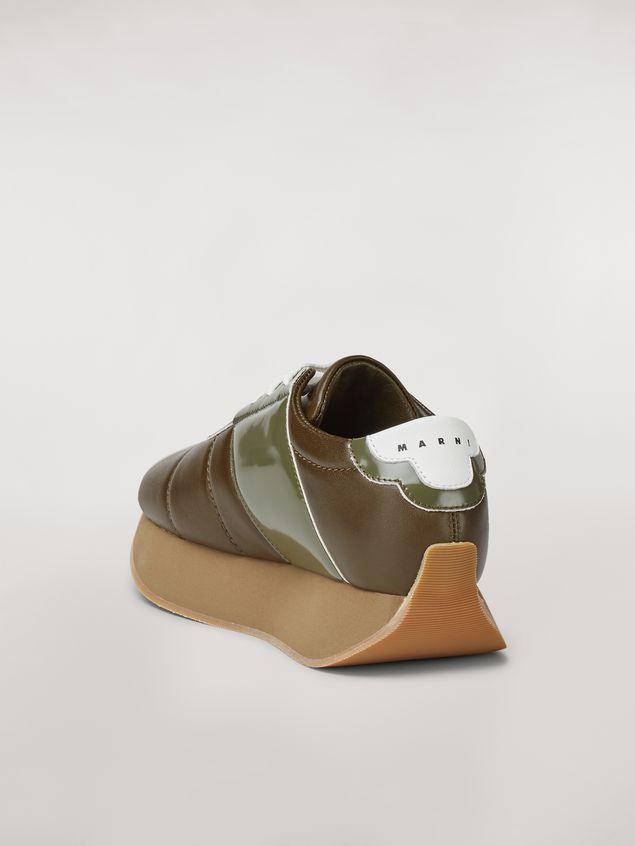 Marni Marni BIG FOOT sneaker in green calfskin  Woman - 3