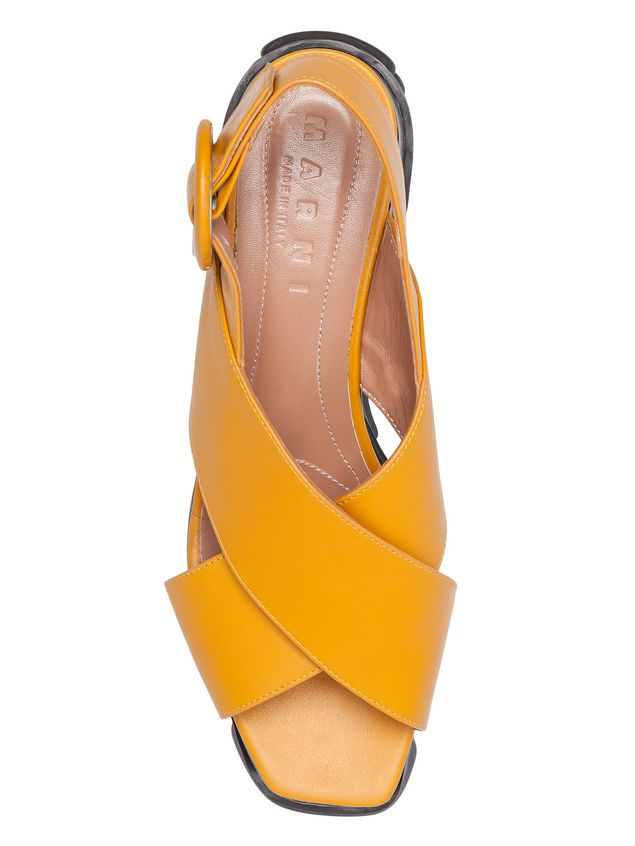 Marni Cross-over wedge in calfskin Woman - 4