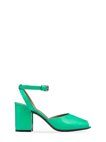 Marni Sandal in patent green Woman