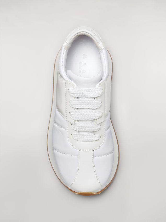 Marni Marni BIG FOOT sneaker in white calfskin  Woman - 4