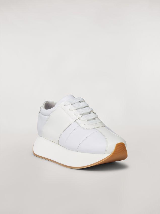 Marni Marni BIG FOOT sneaker in white calfskin  Woman - 2