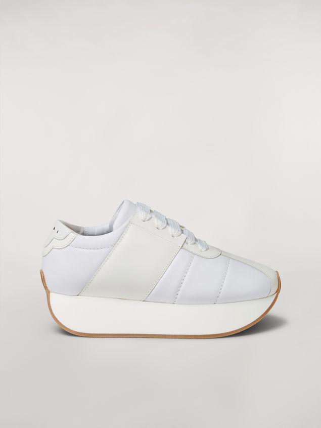 Marni Marni BIG FOOT sneaker in white calfskin  Woman - 1