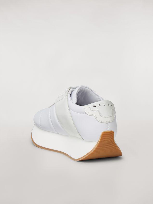 Marni Marni BIG FOOT sneaker in white calfskin  Woman - 3