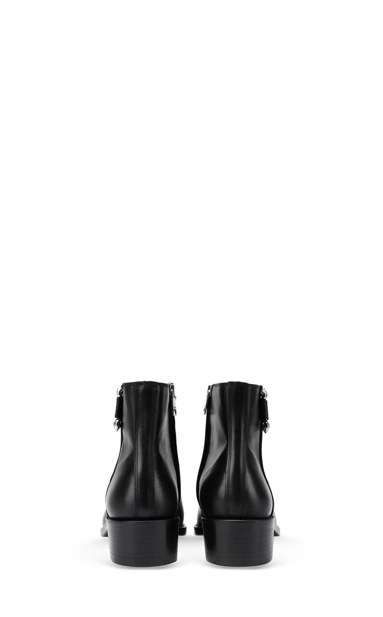 JUST CAVALLI Leather ankle boot with piercing Ankle boots [*** pickupInStoreShippingNotGuaranteed_info ***] d