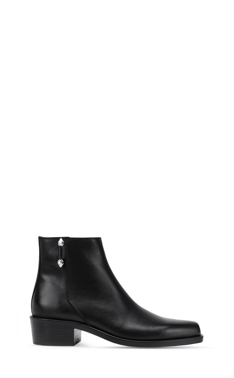 JUST CAVALLI Leather ankle boot with piercing Ankle boots [*** pickupInStoreShippingNotGuaranteed_info ***] f