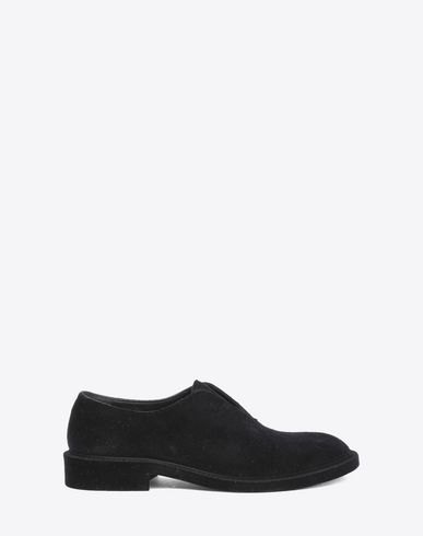 MAISON MARGIELA Laced shoes Man Flocked suede leather lace-ups f