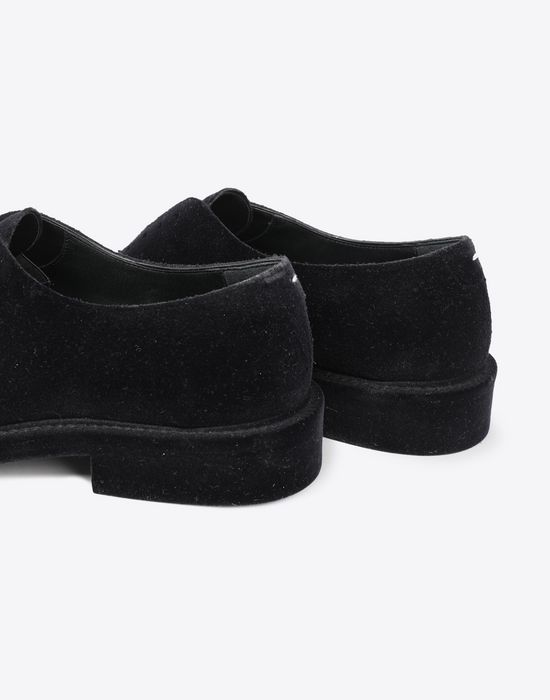 MAISON MARGIELA Flocked suede leather lace-ups Laced shoes [*** pickupInStoreShippingNotGuaranteed_info ***] a