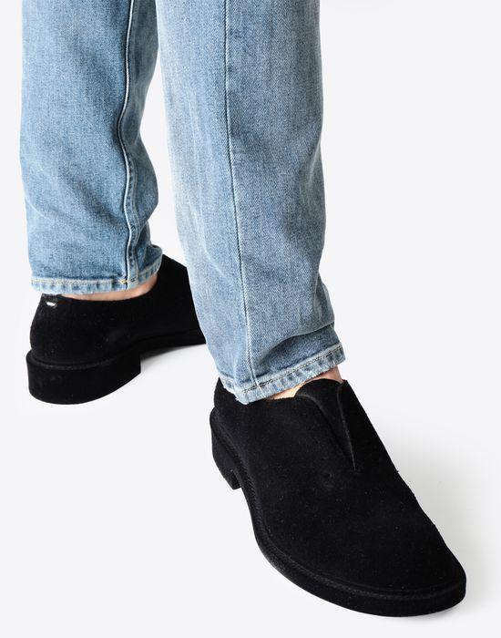 MAISON MARGIELA Flocked suede leather lace-ups Laced shoes [*** pickupInStoreShippingNotGuaranteed_info ***] b