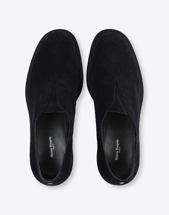 MAISON MARGIELA Flocked suede leather lace-ups Laced shoes [*** pickupInStoreShippingNotGuaranteed_info ***] d