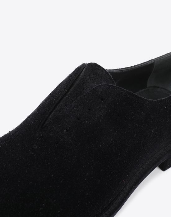 MAISON MARGIELA Flocked suede leather lace-ups Laced shoes [*** pickupInStoreShippingNotGuaranteed_info ***] e