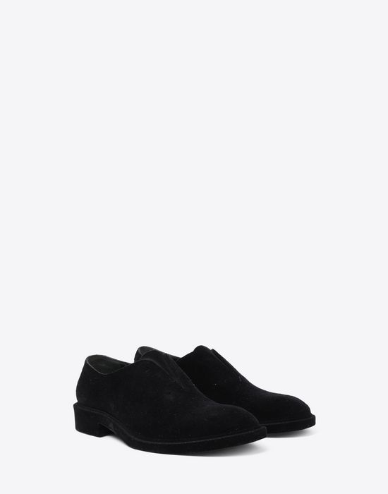 MAISON MARGIELA Flocked suede leather lace-ups Laced shoes [*** pickupInStoreShippingNotGuaranteed_info ***] r