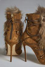 c5caf47a DSQUARED2 Bronx Hip Hop Riri Fur Ankle Boots Botín con cordones Mujer