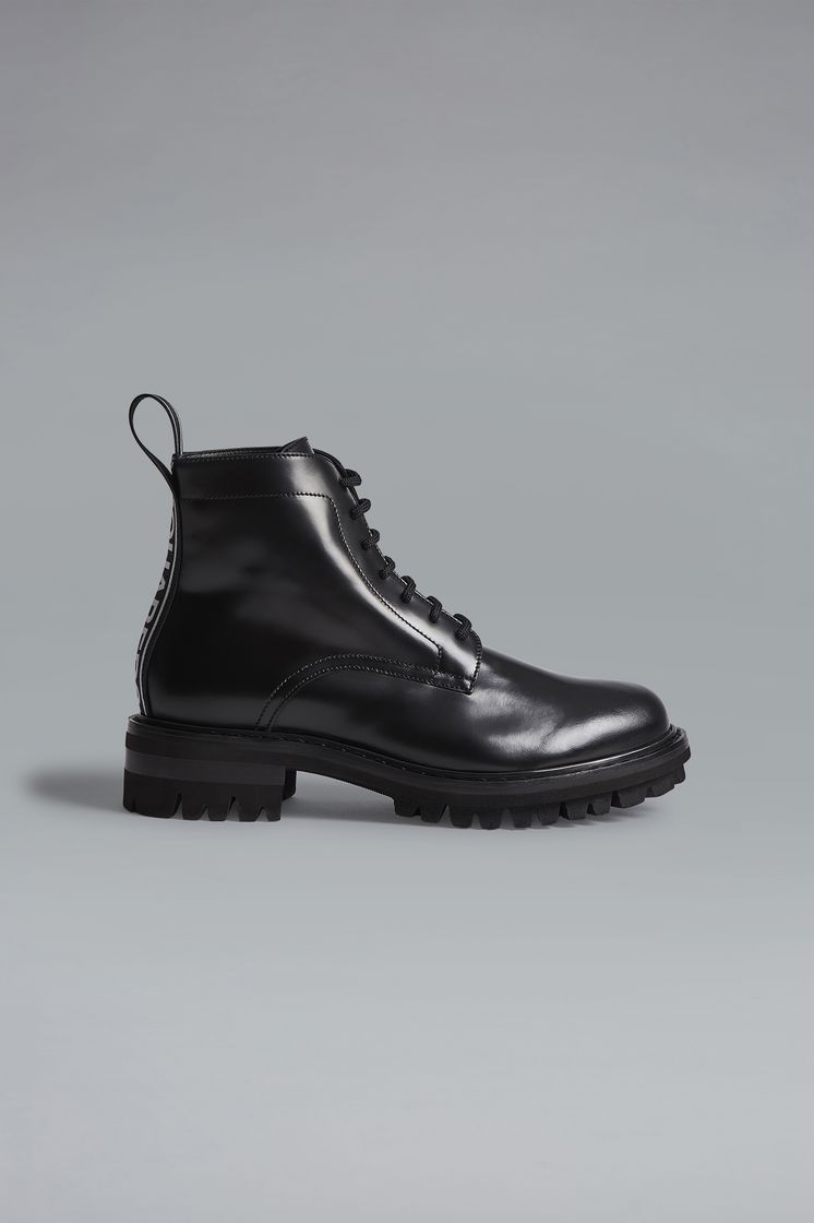 DSQUARED2 Bronx Hip Hop Dsquared2 Tape Ankle Boots Lace-Up Ankle Boot  Man