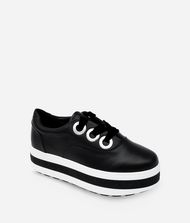 KARL LAGERFELD PLATEAU LEATHER TRAINER 9_f