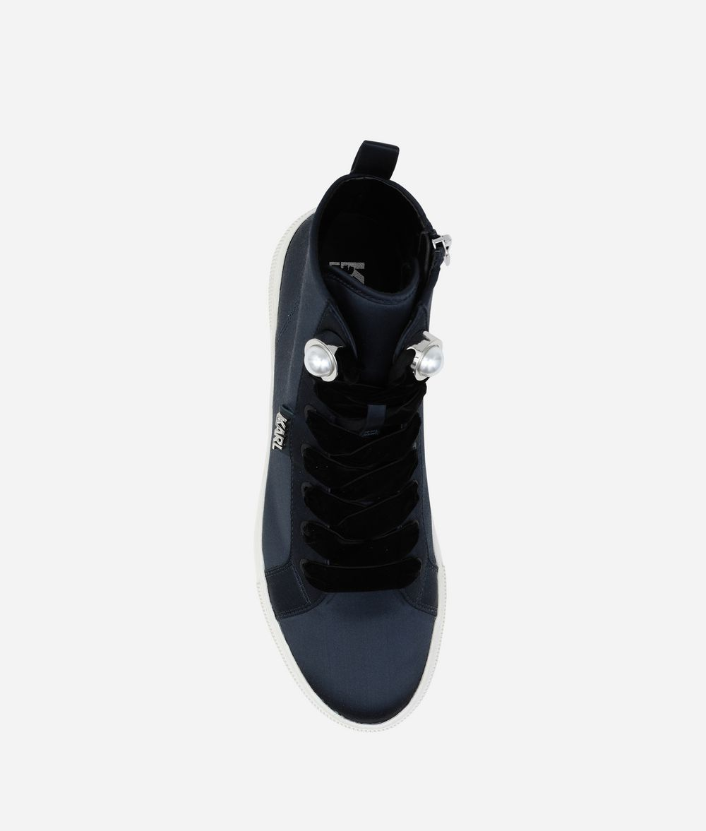 KARL LAGERFELD LUXOR HIGH-TOP SNEAKERS Sneakers Woman d