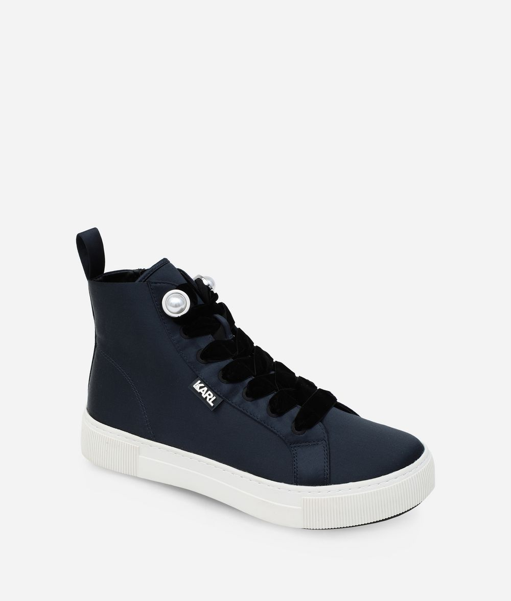 KARL LAGERFELD LUXOR HIGH-TOP SNEAKERS Sneakers Woman f