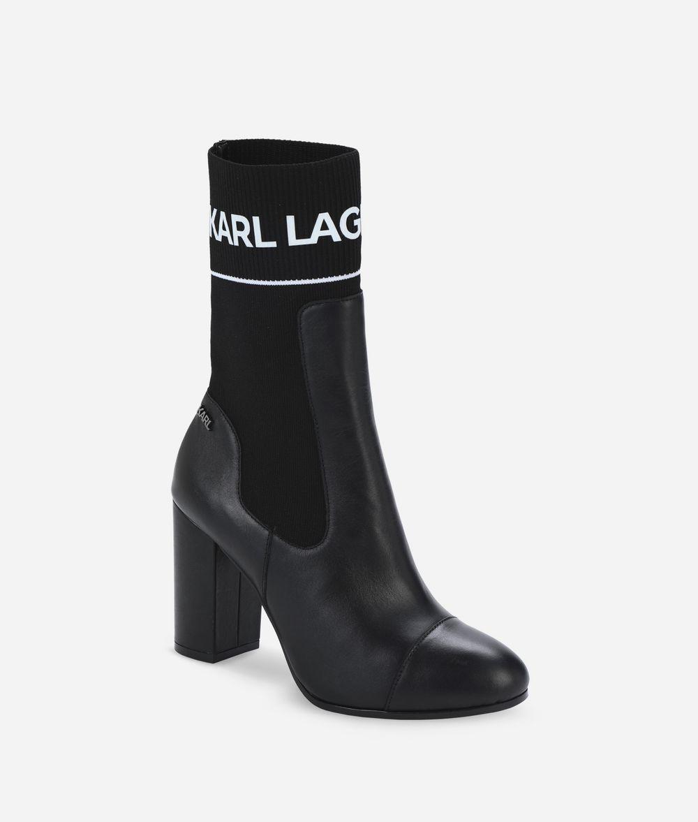KARL LAGERFELD VOYAGE II LOGO MIDI BOOT Boots Woman f