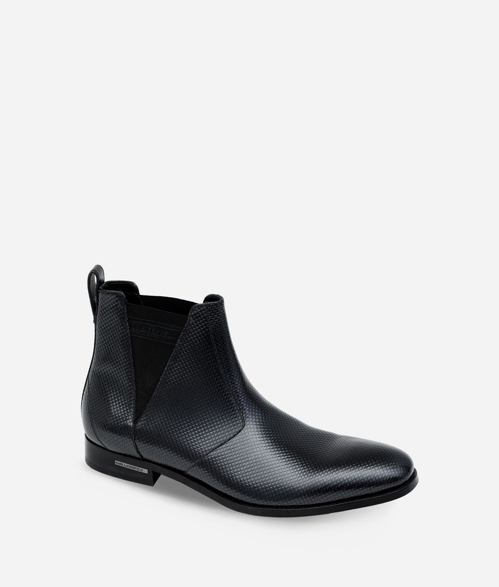 KARL LAGERFELD LEATHER ANKLE BOOT  Boots Man f