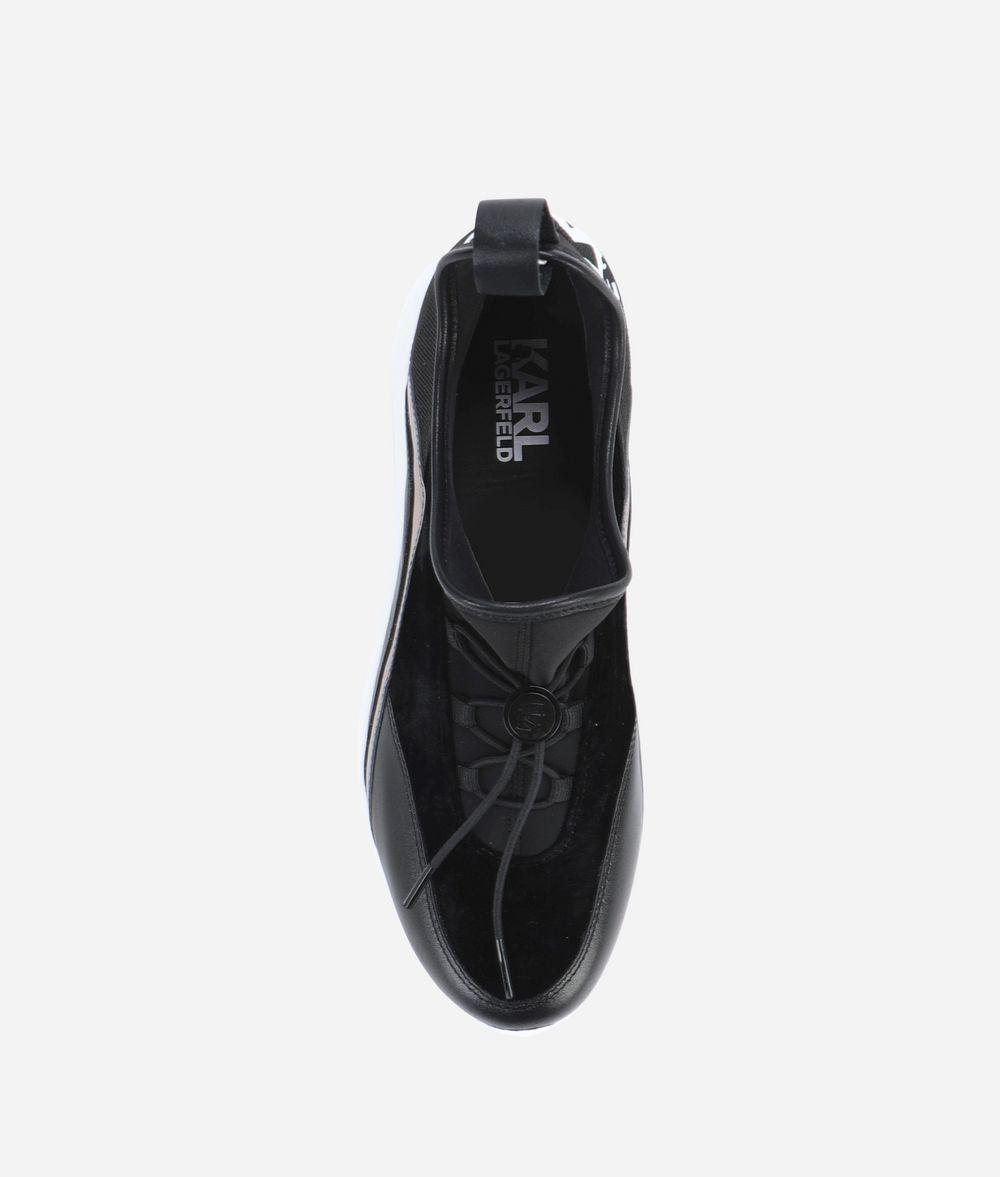 KARL LAGERFELD VITESSE PULL-ON LOGO RUNNER Sneakers Woman d