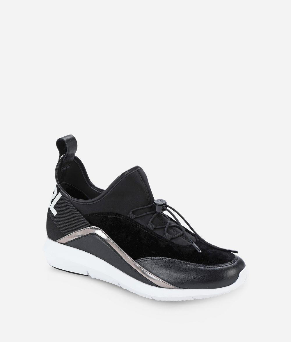 KARL LAGERFELD VITESSE PULL-ON LOGO RUNNER Sneakers Woman f