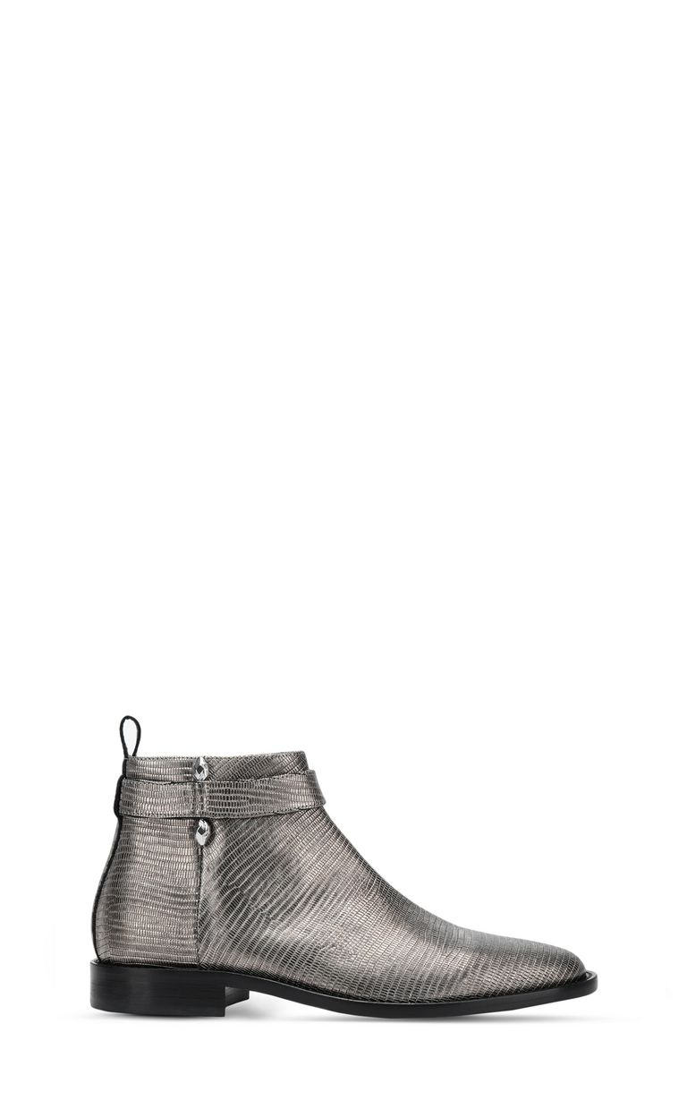 JUST CAVALLI Leather ankle boot with piercing Ankle boots Man f