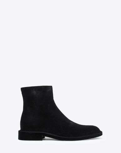 MAISON MARGIELA Ankle boots Man Flocked suede leather ankle boots f