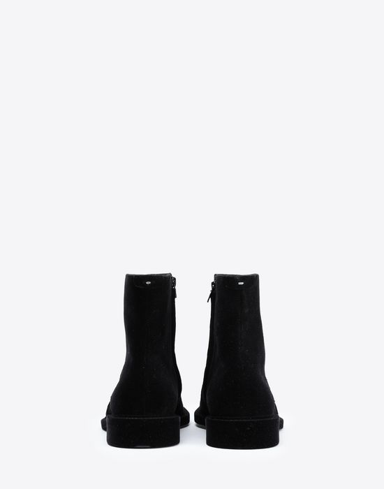 MAISON MARGIELA Flocked suede leather ankle boots Ankle boots [*** pickupInStoreShippingNotGuaranteed_info ***] d