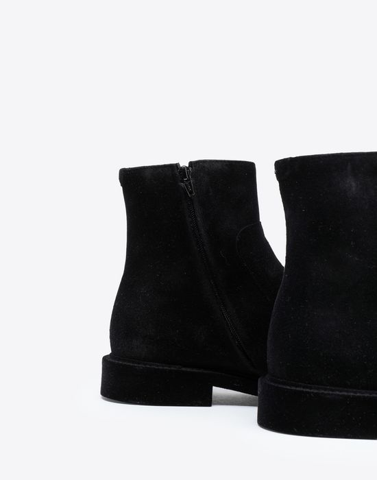 MAISON MARGIELA Flocked suede leather ankle boots Ankle boots [*** pickupInStoreShippingNotGuaranteed_info ***] e