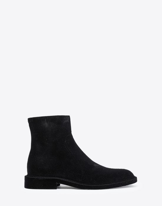 MAISON MARGIELA Flocked suede leather ankle boots Ankle boots [*** pickupInStoreShippingNotGuaranteed_info ***] f