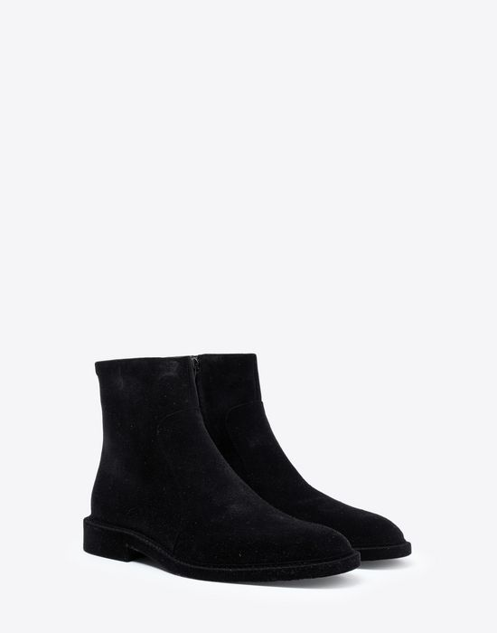 MAISON MARGIELA Flocked suede leather ankle boots Ankle boots [*** pickupInStoreShippingNotGuaranteed_info ***] r