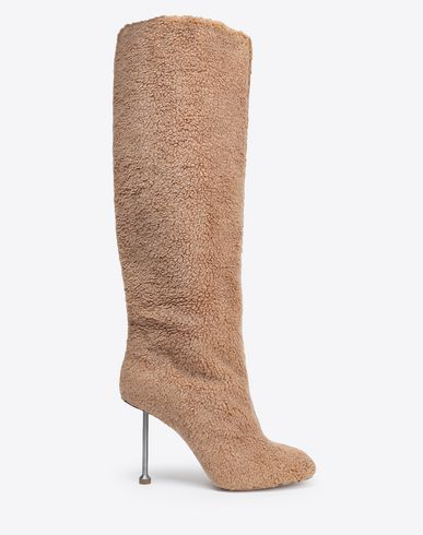 MAISON MARGIELA Boots Woman Fake fur stiletto knee boots f