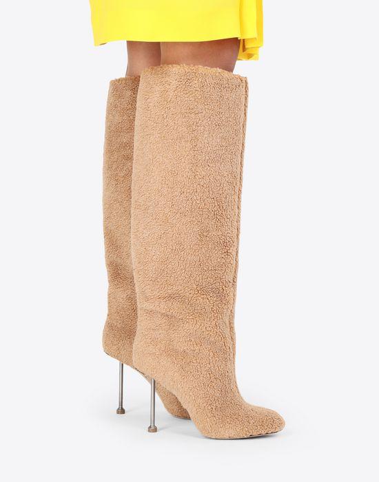 MAISON MARGIELA Fake fur stiletto knee boots Boots [*** pickupInStoreShipping_info ***] b