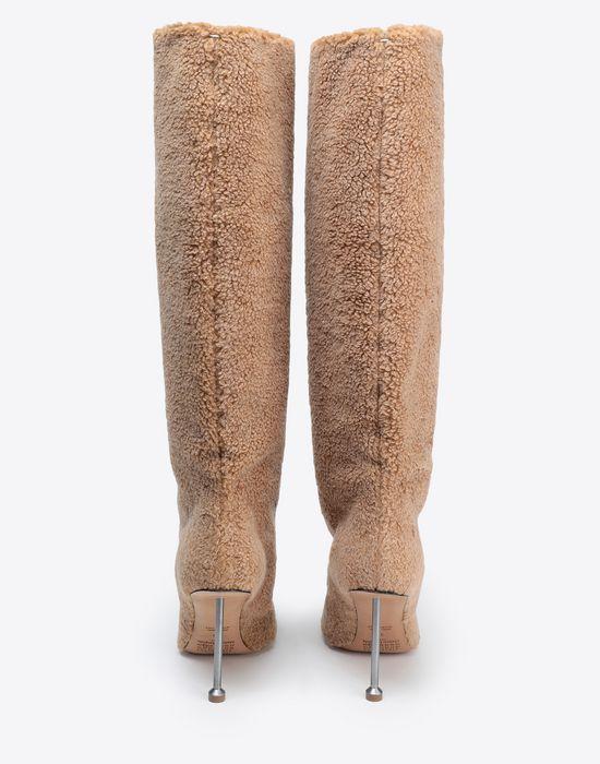 MAISON MARGIELA Fake fur stiletto knee boots Boots [*** pickupInStoreShipping_info ***] d
