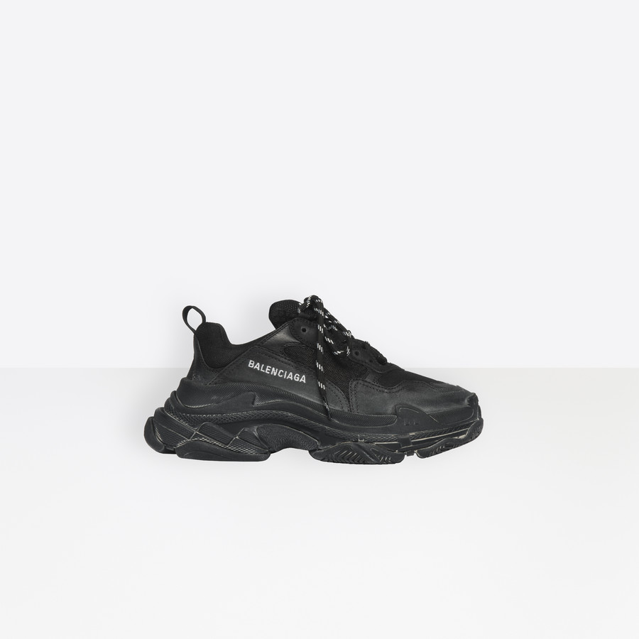 Balenciaga Triple S Sneaker in Black and Grey HYPEBAE