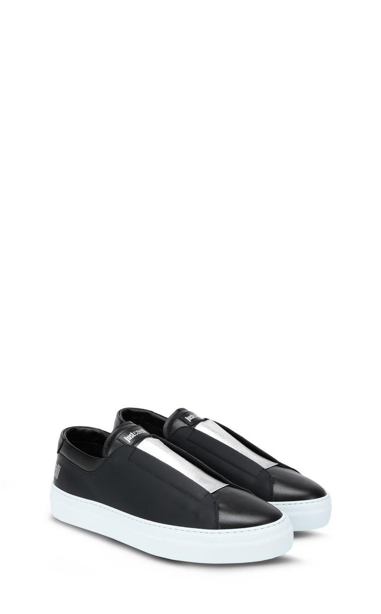 JUST CAVALLI Low-top sneaker with velvet details Sneakers Man r