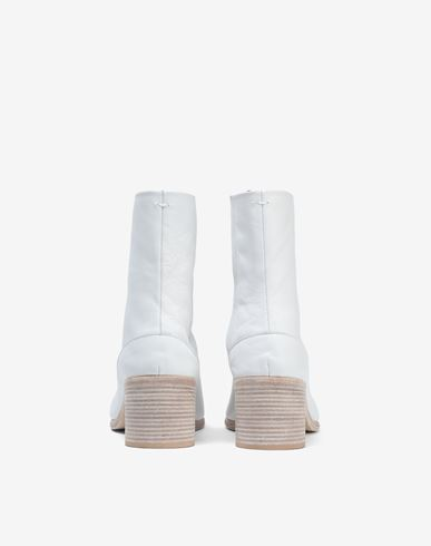SHOES Light brushed Tabi high boots White