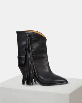 ISABEL MARANT BOOTS Woman LOFFEN fringed ankle boots d
