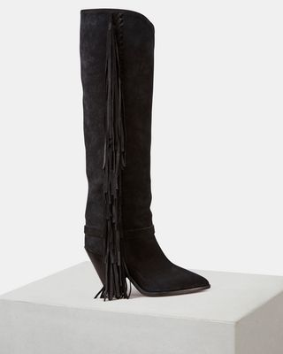 ISABEL MARANT BOOTS Woman LENSTON fringed boots d
