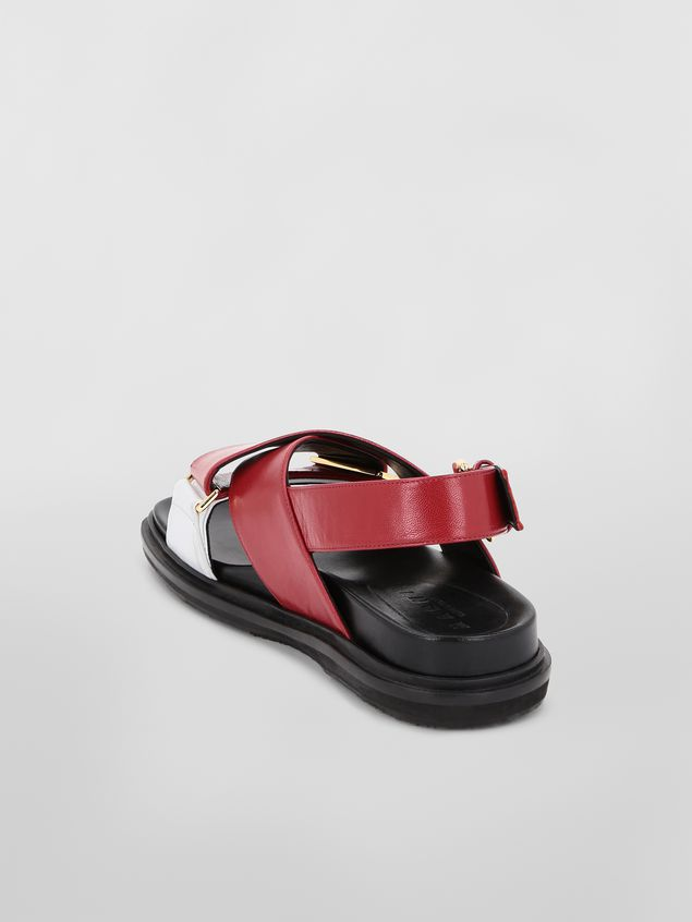 Marni Fussbett in red and white goatskin leather  Woman