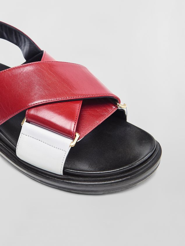 Marni Fussbett in red and white goatskin leather  Woman - 5