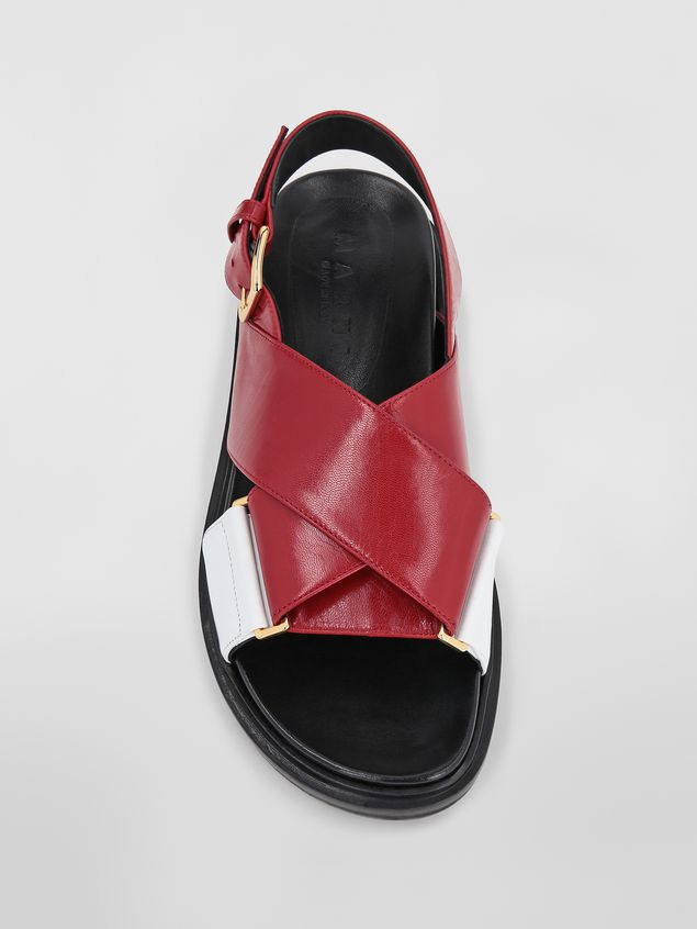Marni Fussbett in red and white goatskin leather  Woman - 4