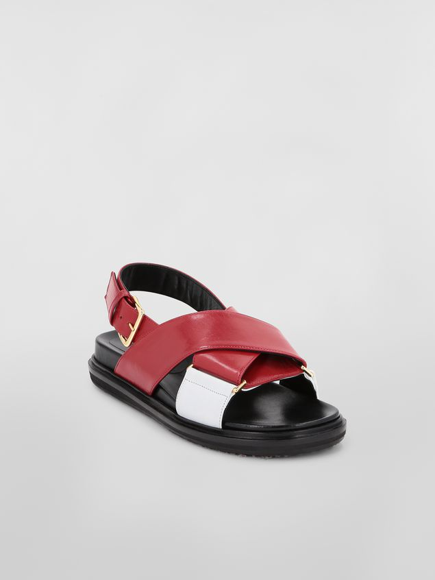Marni Fussbett in red and white goatskin leather  Woman - 2