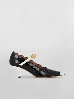 Marni Mary-Jane in ostrich-print calfskin Woman