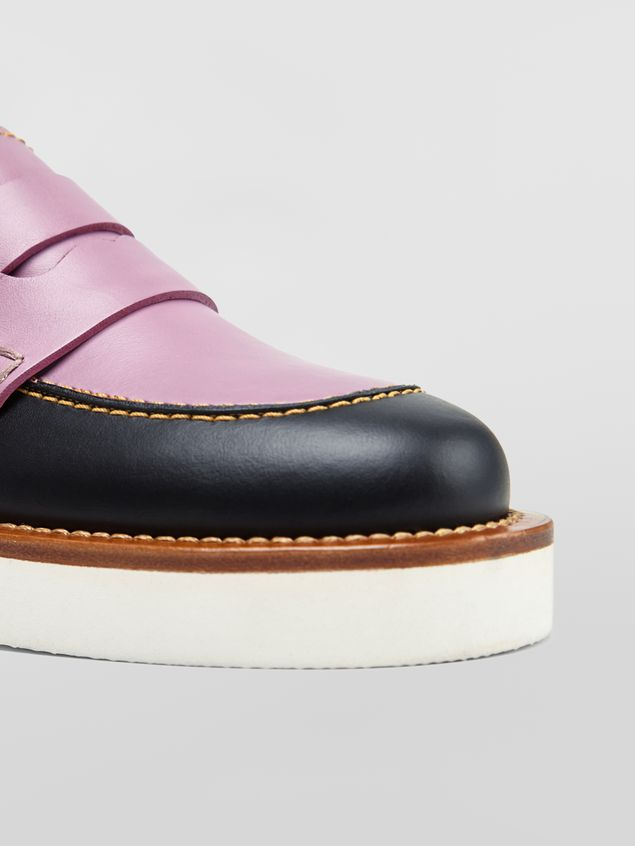 Marni Loafer in black and lilac calfskin  Woman - 5