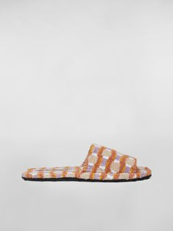 Marni Slipper in cotton sponge  Man