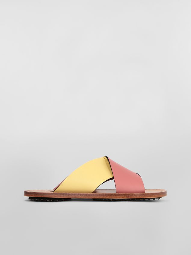 Marni Criss-cross sandal in calfskin Woman - 1