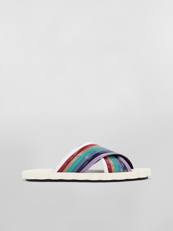 Marni Rainbow criss-cross sandal in goatskin  Woman